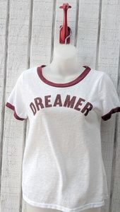 DREAMER white short sleeve tee sz L
